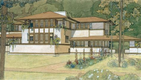 American House Plans by Frank Lloyd Wright Curbed
