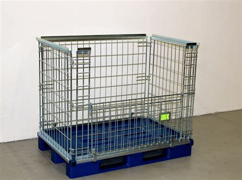 metal cage metal cage with plastic pallet