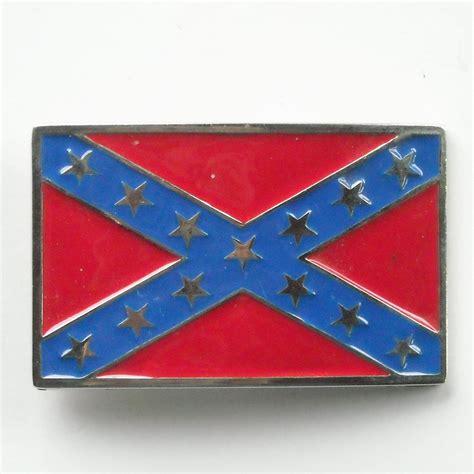 confederate colors confederate flag rebel silver color alloy belt buckle