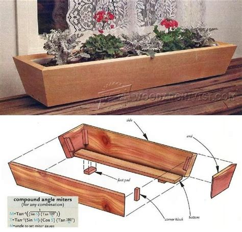 Planters Box Design by 25 Best Ideas About Planter Box Plans On