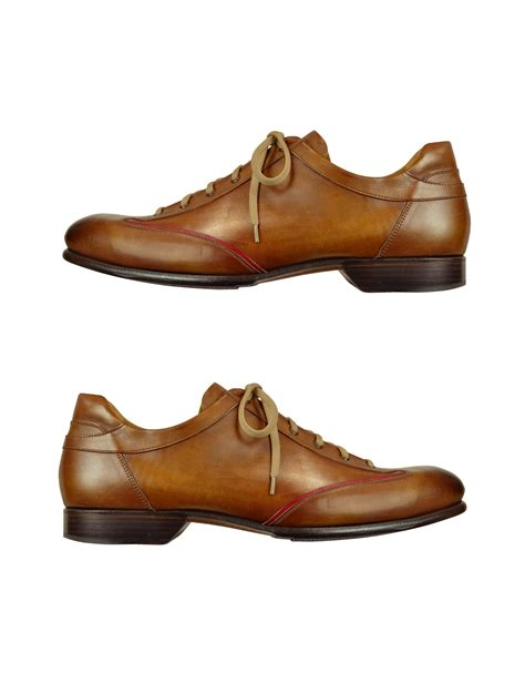 Handmade Italian Leather Shoes - forzieri s brown handmade italian leather lace up