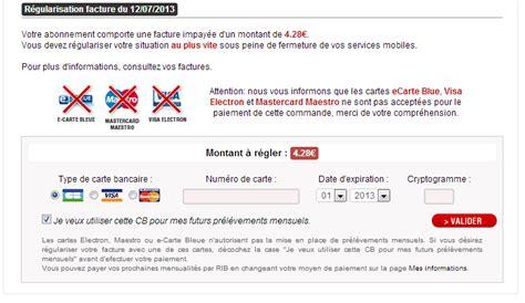 changer de modle facture impay 233 e free mobile changement de mode de paiement possible