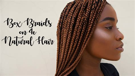 the best type of hair for natural box braids box braids done at the salon 4c natural hair youtube