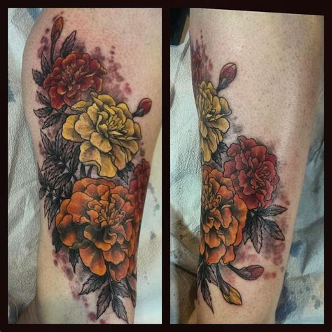 marigold tattoo designs freshly inked marigolds by bonnie seeley at black thumb