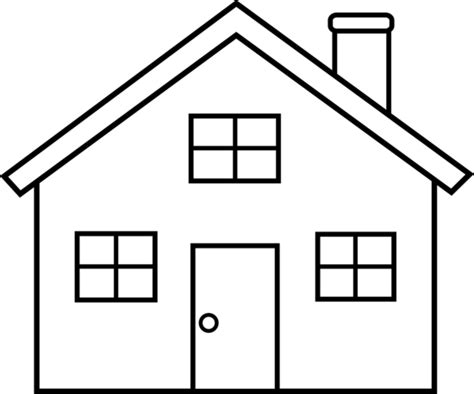 house outline little house line art free clip art