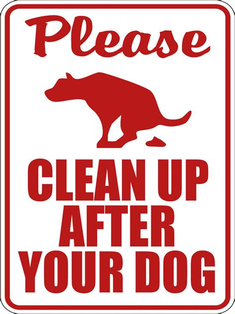 up after your signs clean up after your pet sign 9 quot x12 quot ebay