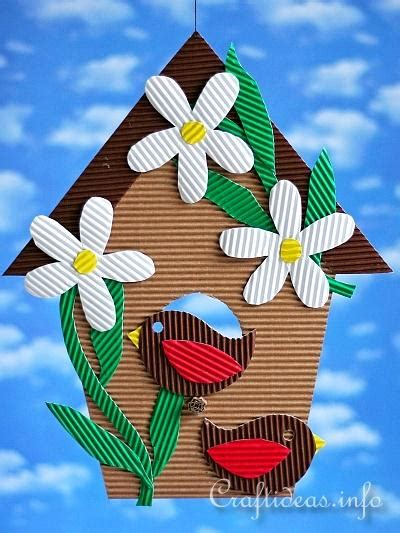 Corrugated Paper Craft - paper craft for corrugated cardboard birdhouse