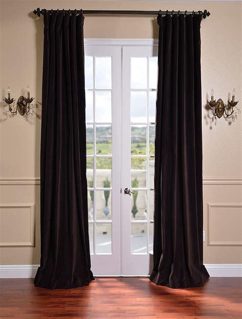 brown velvet curtains kona brown vintage cotton velvet curtains drapes ebay