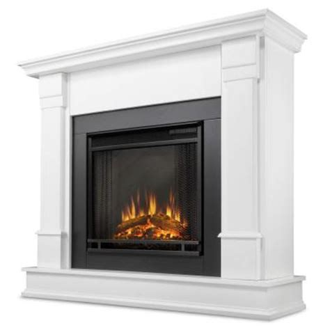 electric fireplaces at home depot real silverton 48 in electric fireplace in white