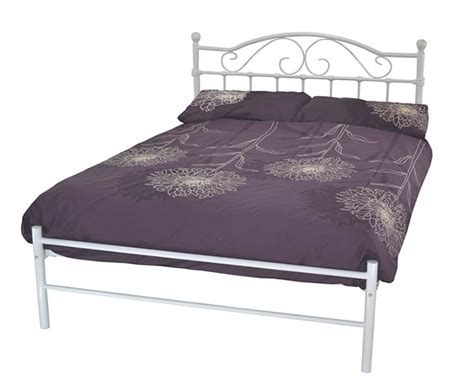 4ft bed frames exmoor small double 4ft white metal bed frame
