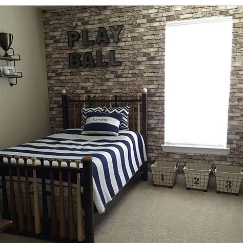 baseball bedroom decor this vintage baseball room has us going like this bed is