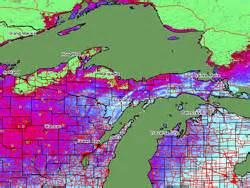 Snow Depth Map Michigan by Upper Peninsula Of Michigan Weather Reports