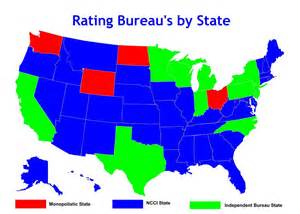 us map data ncci states monopolistic states and independent bureau