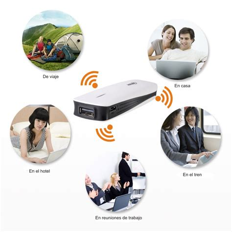 802 Set 3in1 mini wireless router 3g hotspot 150mbps 1800mah portable charger