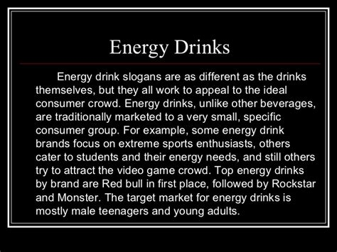 an energy drink slogan energy drinks