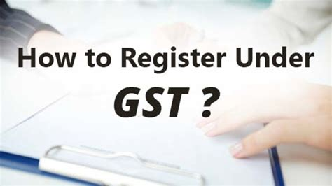 how to register a service how to register gst step by step procedure for gst registration