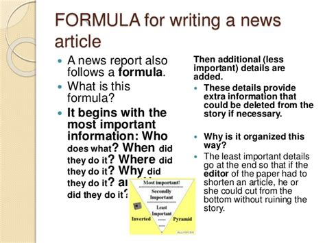sle of newspaper report osslt prep news article