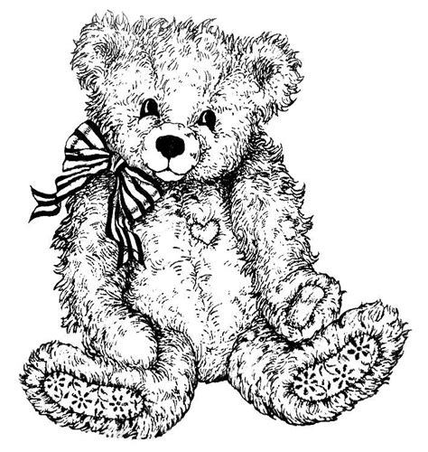 teddy bear coloring pages for adults teddy bear coloring pages free alltoys for