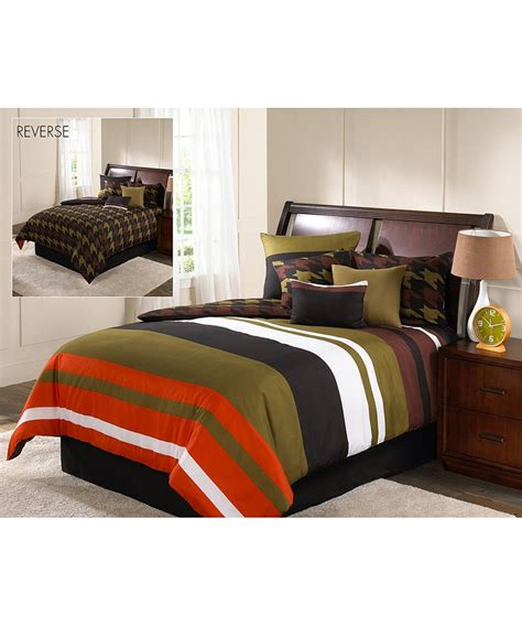military bedding military stripe reversible twin comforter set