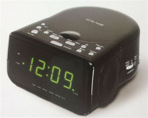 craig am fm stereo dual alarm clock radio w cd player and led green display new ebay