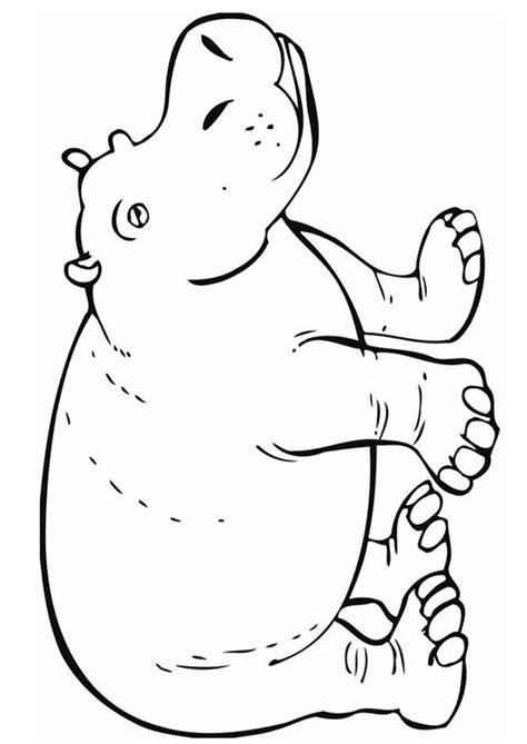 hippopotamus hippo coloring page african safari