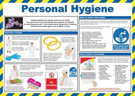 wetherspoons kitchen induction personal hygiene poster catersigns limited