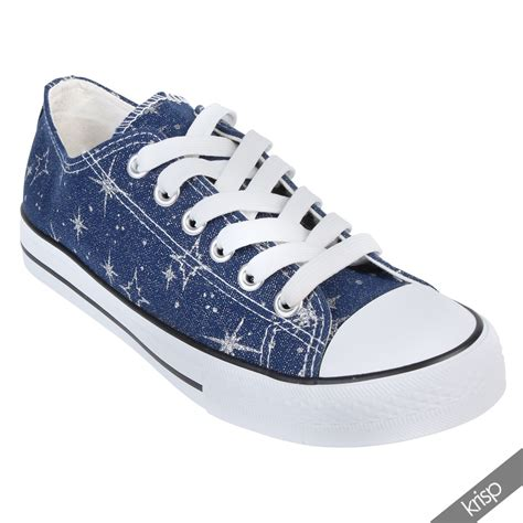 Top 8 Shoes For This Summer by Womens Canvas Low Top Lace Up Trainers Flatform Shoes