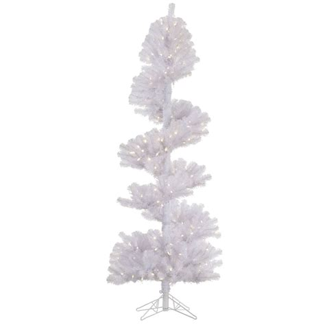 vickerman 7 x 34 quot white spiral tree with 300 warm white