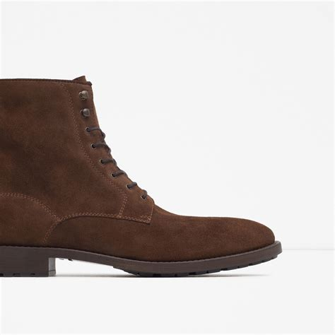 D Island Shoes Casual Leather Brown zara leather ankle boots leather ankle boots in brown for taupe lyst