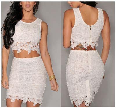 Lnice Flower Top Skirt fashion flower lace dress 2piec dress 183 fe clothing
