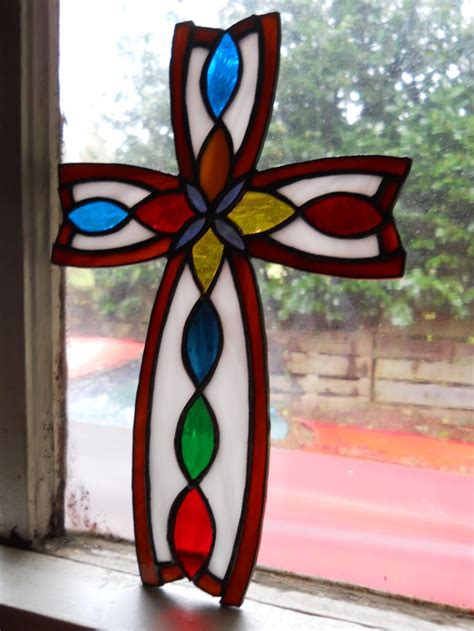stained glass cross l 17 best images about stain glass ideas on pinterest