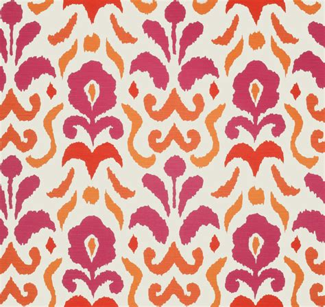 fabric for pillows and curtains hot pink and orange ikat upholstery and drapery fabric