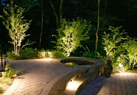 Backyard Landscape Lighting Landscape Lighting Victor Ny Welch Enterprise