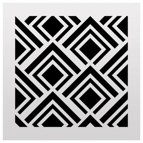 geometric pattern wall stencil geometric pattern stencil small contemporary wall