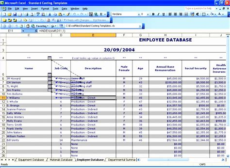 10 Free Employee Database Template In Excel Exceltemplates Exceltemplates Free Excel Database Templates