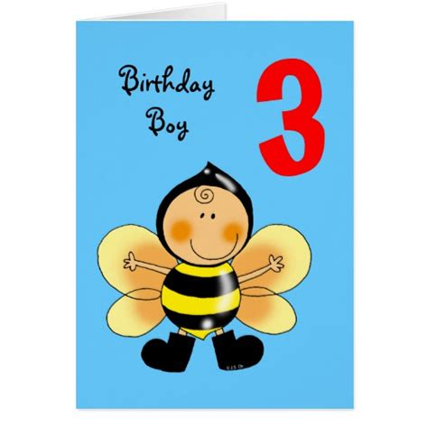 printable birthday cards 8 year old boy 3 year old birthday boy greeting card zazzle