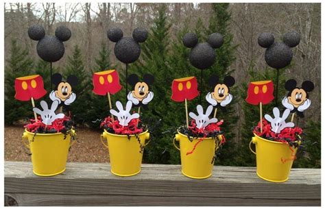 Mickey Mouse Handmade Decorations - mickey mouse centerpieces mickey mouse birthday