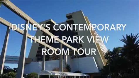 theme park view contemporary resort disney s contemporary theme park view room tour youtube