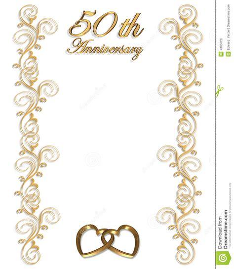 wedding golden border 50th anniversary border clipart