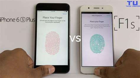Finger Print Oppo F1s Sparepart Hp oppo f1s vs iphone 6s plus fingerprint scanner speed test