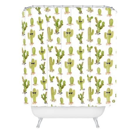 cactus shower curtain cool cacti woven shower curtain wonder forest