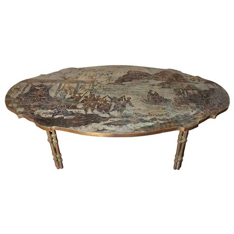 Oval Shaped Coffee Tables An Oval Shaped Philip And Kelvin Laverne Chinoiserie Coffee Table For Sale At 1stdibs
