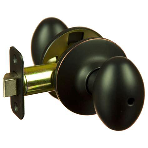 Door Knobs For Bathroom Lot Of 10 Hensley Rubbed Bronze Privacy Egg Door Knobs