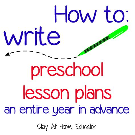 how to write preschool lesson plans an entire year in