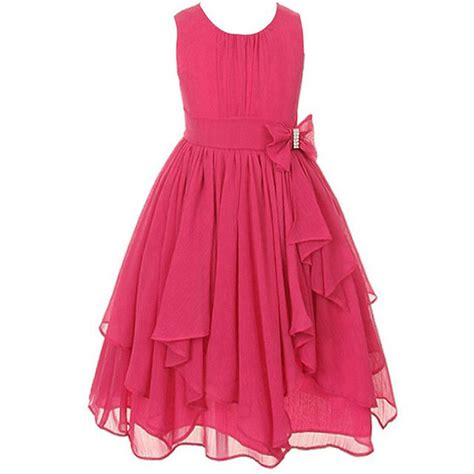 Dress Kid Bungashan 3 dress irregular ruffled summer princess dresses chiffon children clothing