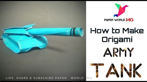 How To Make A Paper Tank - origami tank images craft decoration ideas