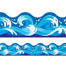classroom display trimmers borders water waves design
