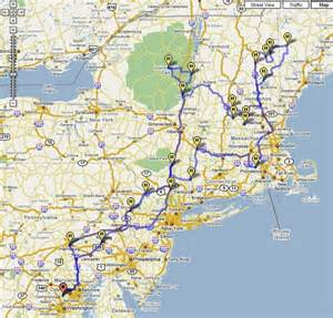 Road Map Of Northeast United States by 2007 New England Road Trip