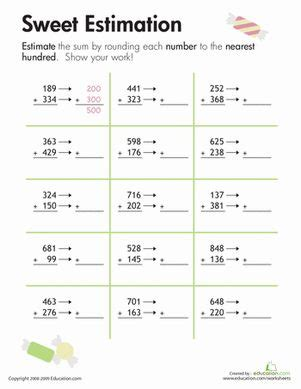 printable math worksheets rounding numbers rounding sweet estimation math free printables and sweet