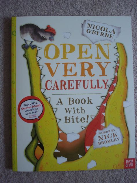 open carefully a book with bite books open carefully a book review 40 and a to one